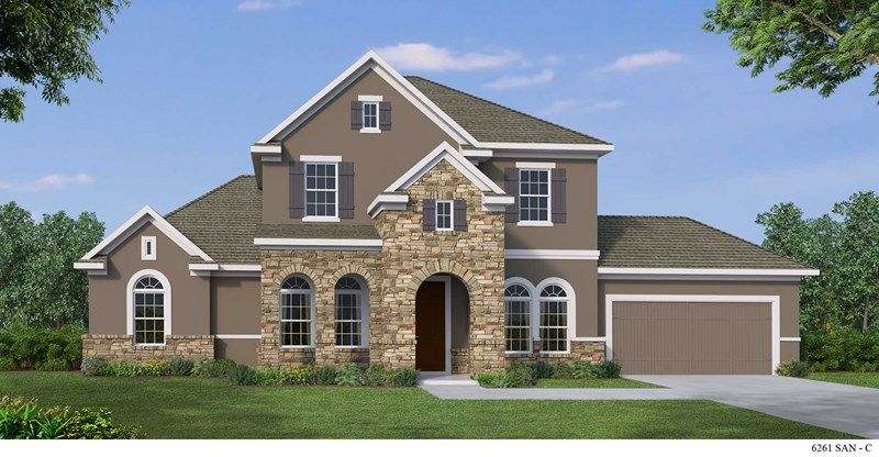 Exterior featured in the Calistoga By David Weekley Homes in San Antonio, TX