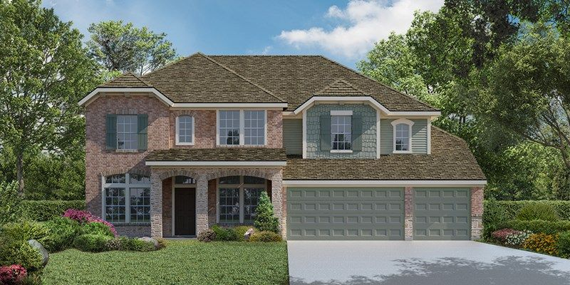 Exterior featured in the Evanson By David Weekley Homes in San Antonio, TX