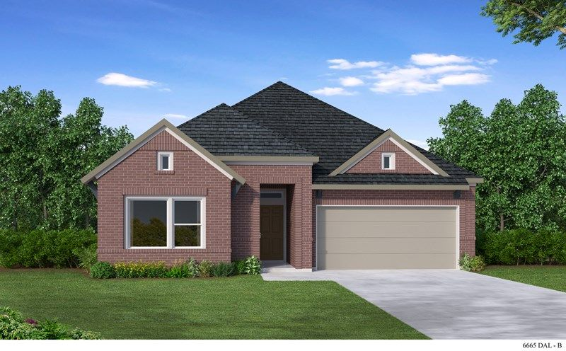 Exterior featured in the Whittlock By David Weekley Homes in Fort Worth, TX