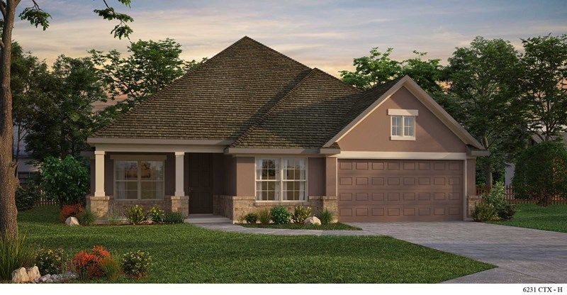 Exterior featured in the Fairlane By David Weekley Homes in Austin, TX