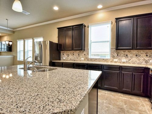 Kitchen-in-Romero-at-Fronterra at Westpointe - 50'-in-San Antonio