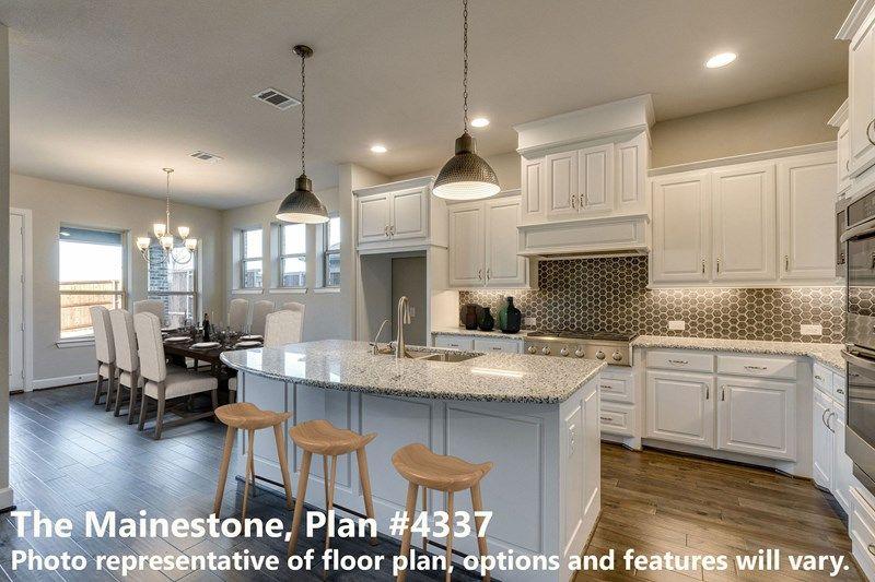 Kitchen-in-Mainestone-at-Lilyana-in-Prosper