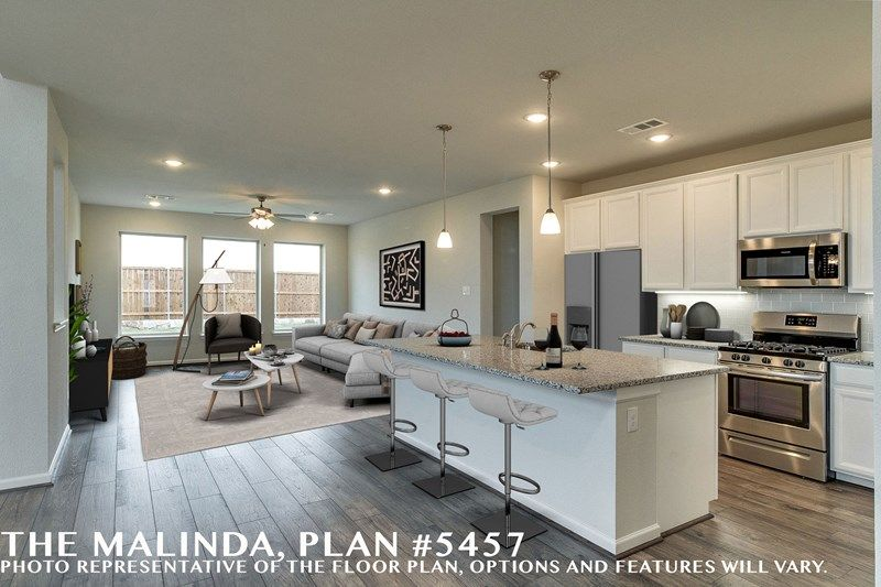 Living Area featured in the Malinda By David Weekley Homes in Dallas, TX