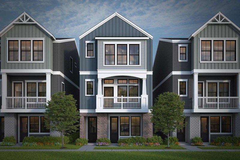Exterior featured in the Poppy By David Weekley Homes in Atlanta, GA