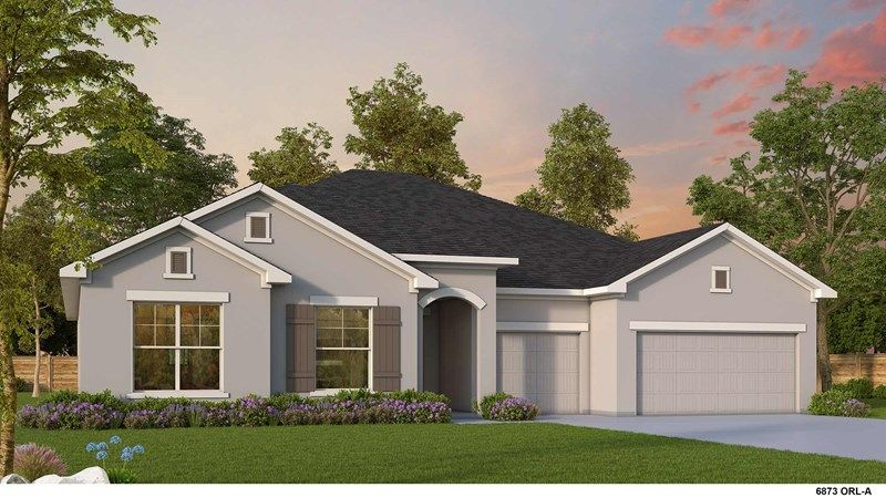 Exterior featured in the Hollowell By David Weekley Homes in Orlando, FL