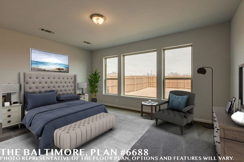Bedroom featured in the Baltimore By David Weekley Homes in Fort Worth, TX