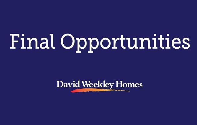Timberland Ridge - Final Opportunities