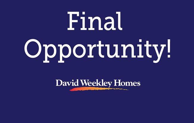 Final Opportunity - Reagan Pointe - Garden Series