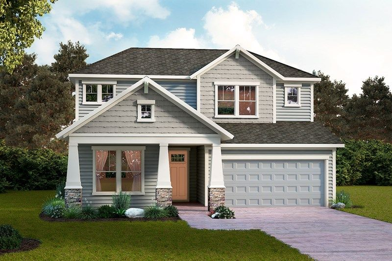 Exterior featured in the Boswell By David Weekley Homes in Jacksonville-St. Augustine, FL
