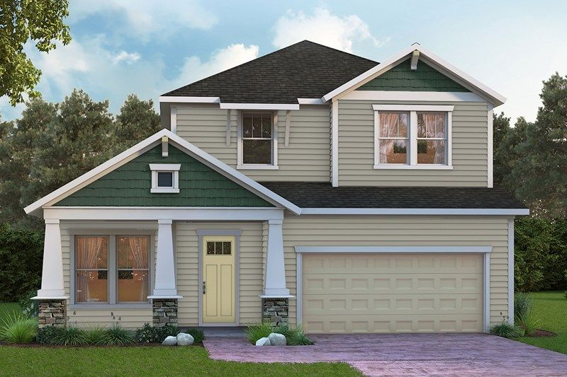 Exterior featured in the Coleman By David Weekley Homes in Jacksonville-St. Augustine, FL