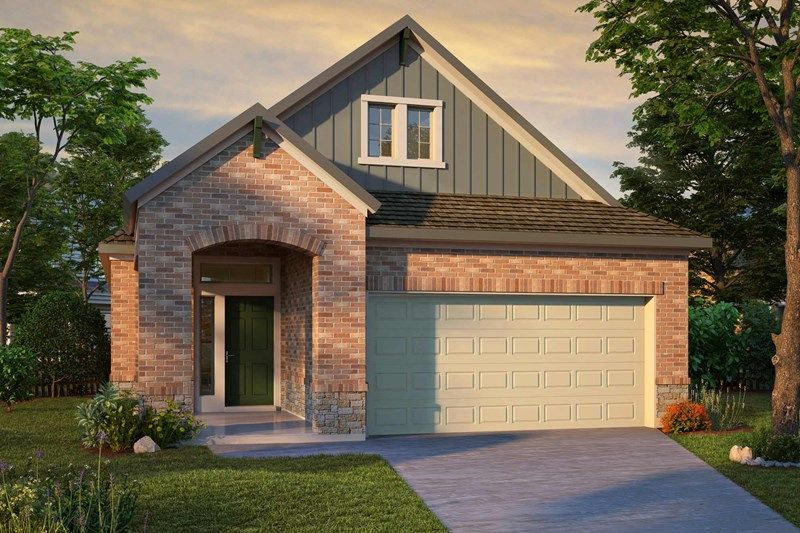 Exterior featured in the Bingham By David Weekley Homes in Houston, TX