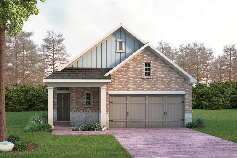 Exterior featured in the Brenton By David Weekley Homes in Houston, TX