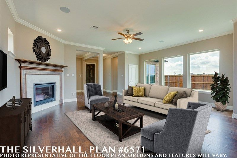 Living Area featured in the Silverhall By David Weekley Homes in Fort Worth, TX