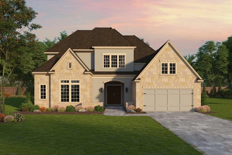 Exterior featured in the Gabriel By David Weekley Homes in Houston, TX