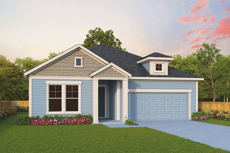 Exterior featured in the Irondale By David Weekley Homes in Jacksonville-St. Augustine, FL