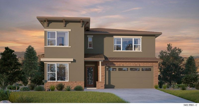 Exterior featured in the Campbell By David Weekley Homes in Phoenix-Mesa, AZ