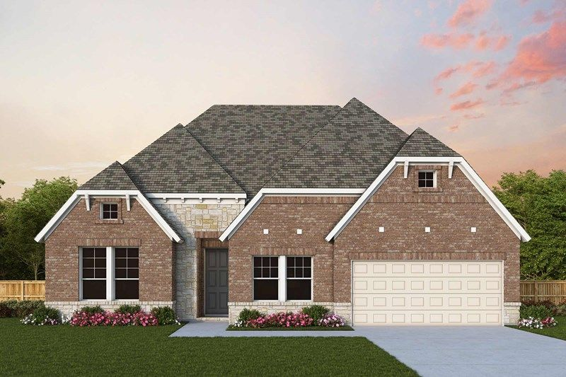 Exterior featured in the Birkshire By David Weekley Homes in Houston, TX