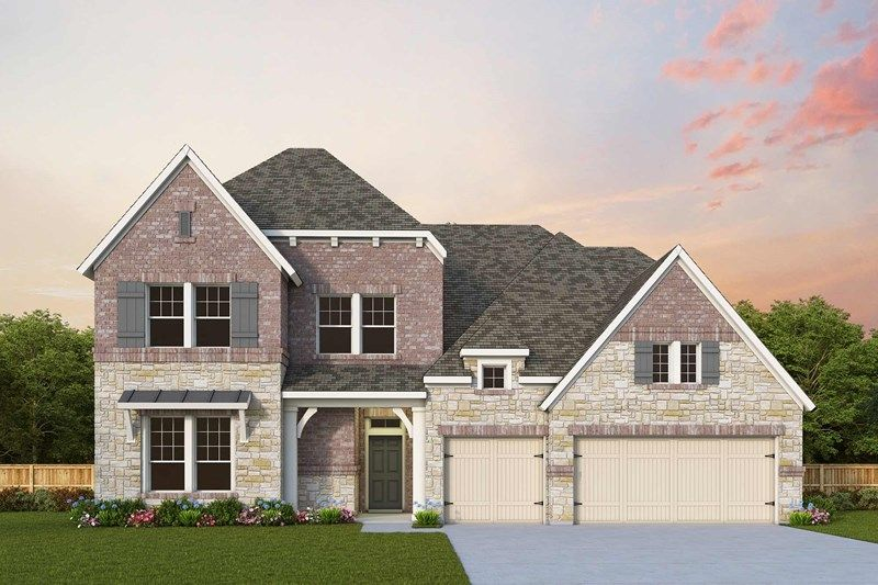 Exterior featured in the Meadows By David Weekley Homes in Houston, TX