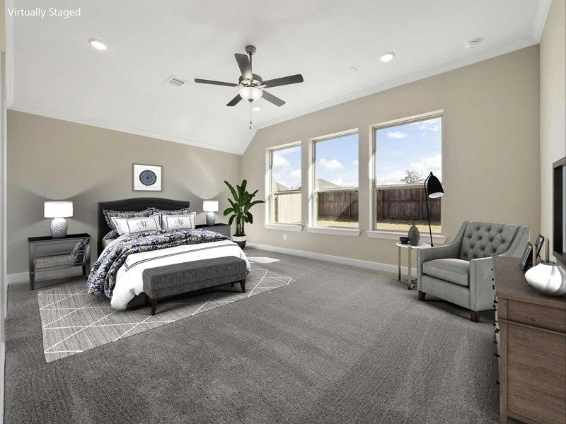 Bedroom featured in the Hennessey By David Weekley Homes in Houston, TX