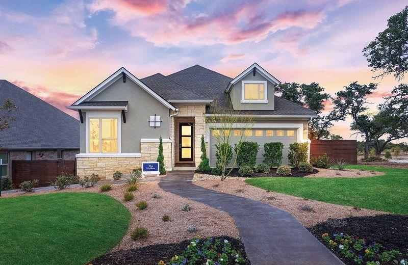 Exterior featured in the Halden By David Weekley Homes in Austin, TX