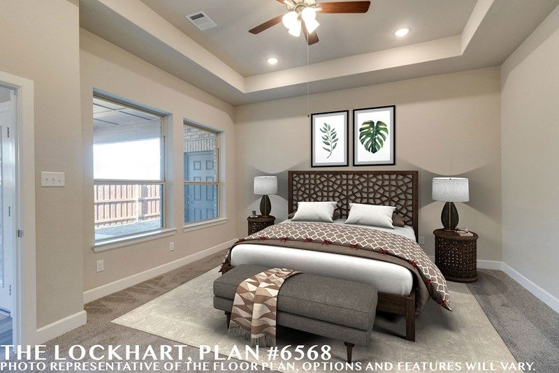 Bedroom featured in the Lockhart By David Weekley Homes in Fort Worth, TX
