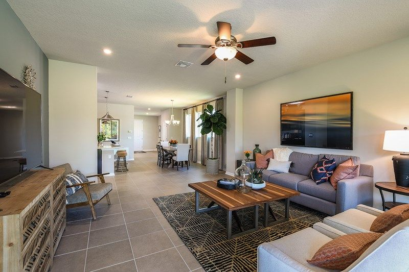Living Area featured in the Arabica By David Weekley Homes in Sarasota-Bradenton, FL