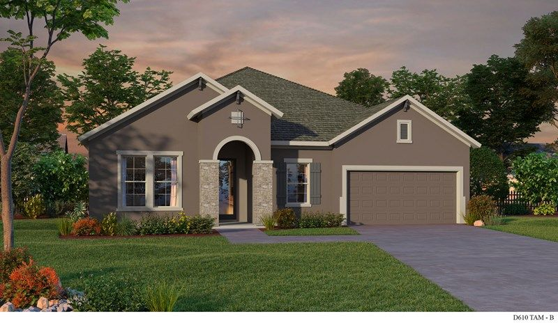 Exterior featured in the Serefina By David Weekley Homes in Tampa-St. Petersburg, FL