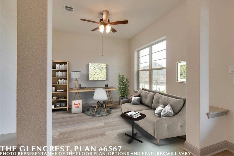 Living Area featured in the Glencrest By David Weekley Homes in Fort Worth, TX