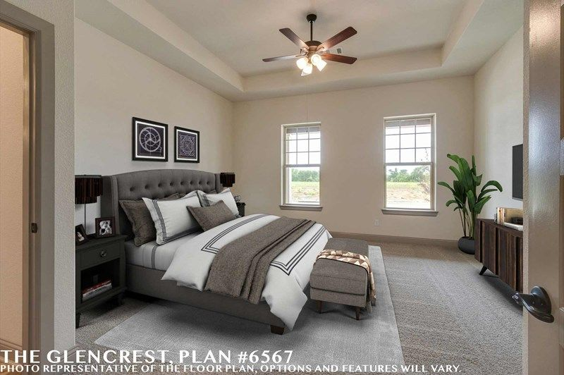 Bedroom featured in the Glencrest By David Weekley Homes in Fort Worth, TX