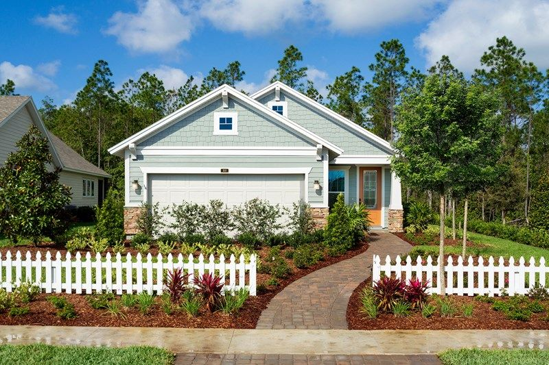 Exterior featured in the Haden By David Weekley Homes in Jacksonville-St. Augustine, FL