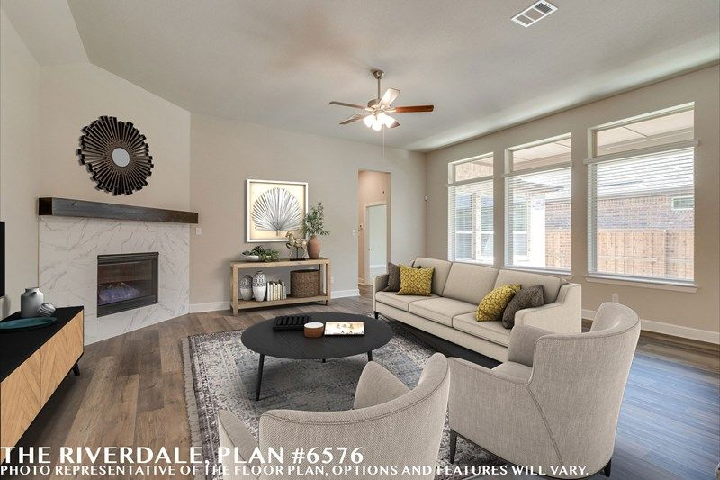 Living Area featured in the Riverdale By David Weekley Homes in Fort Worth, TX