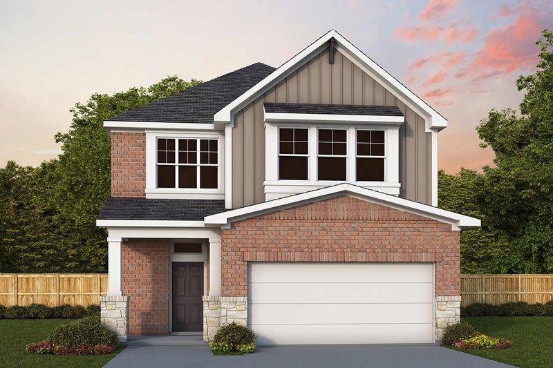 Exterior featured in the Carnegie By David Weekley Homes in Houston, TX