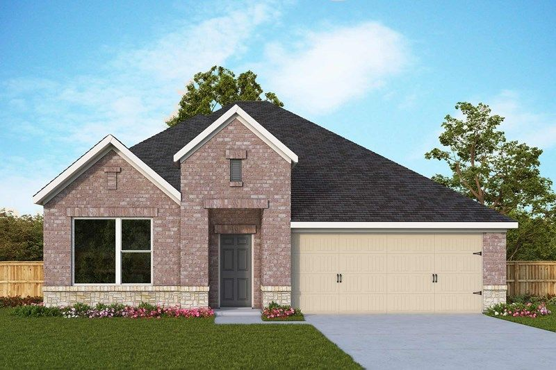 Exterior featured in the Bluebonnet By David Weekley Homes in San Antonio, TX