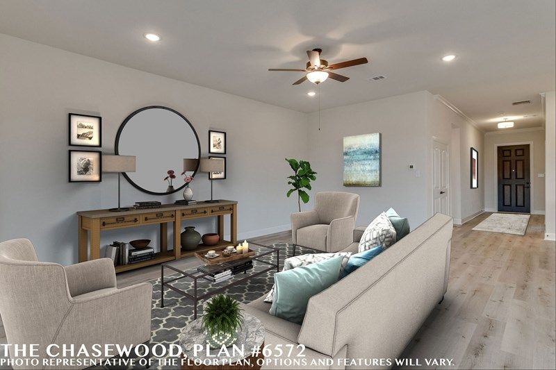 Living Area featured in the Chasewood By David Weekley Homes in Fort Worth, TX
