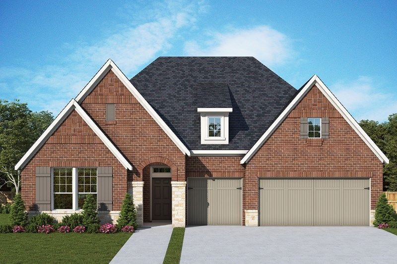 Exterior featured in the Roth By David Weekley Homes in Houston, TX
