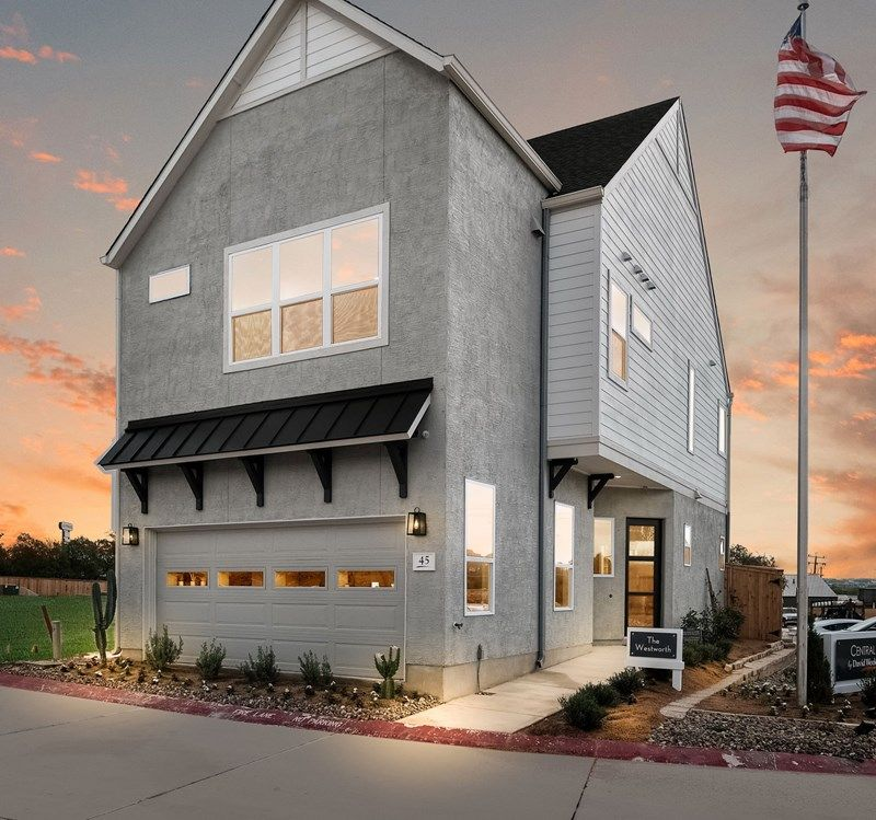 Exterior featured in the Westworth By David Weekley Homes in San Antonio, TX