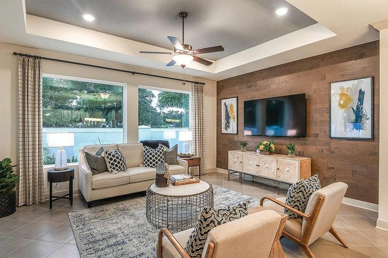 Living Area featured in the Hacienda By David Weekley Homes in Sarasota-Bradenton, FL
