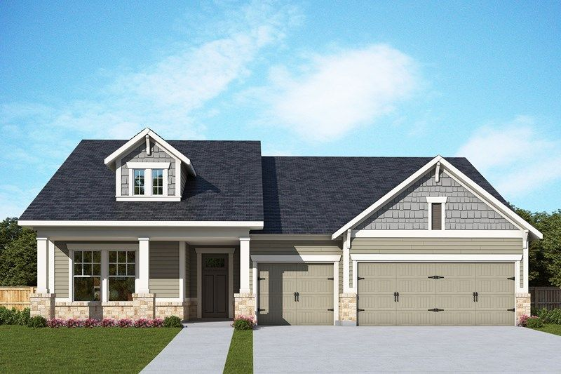 Exterior featured in the Meadowhill By David Weekley Homes in Atlanta, GA