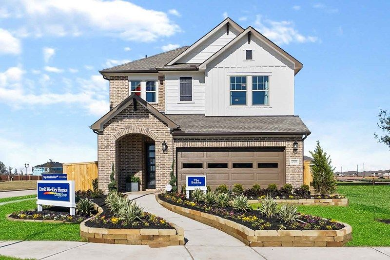 Exterior featured in the Beckley By David Weekley Homes in Houston, TX