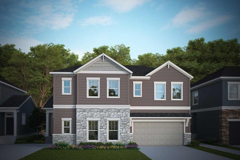 Exterior featured in the Abbington By David Weekley Homes in Fort Collins-Loveland, CO