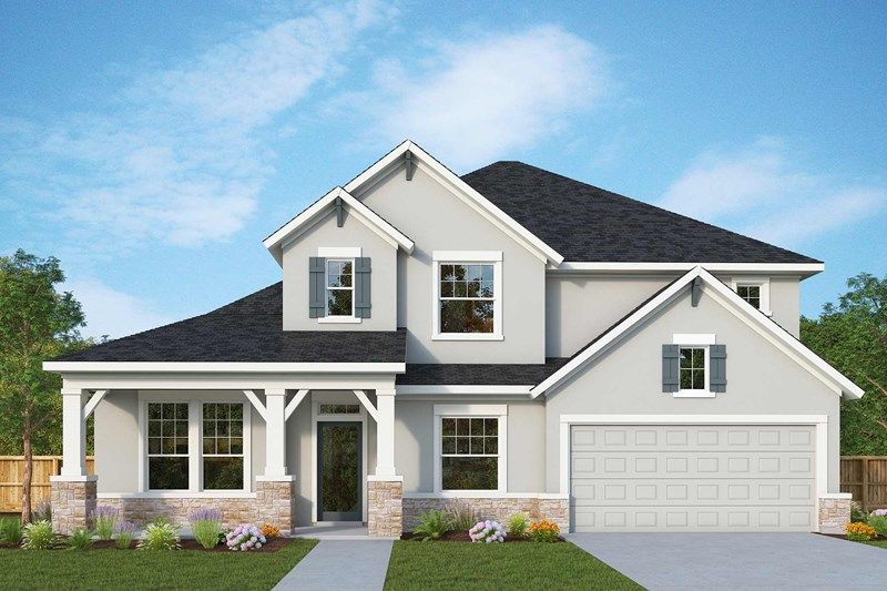 Exterior featured in the Latham By David Weekley Homes in Austin, TX