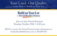Build on Your Lot - Memorial by David Weekley Homes in Houston Texas