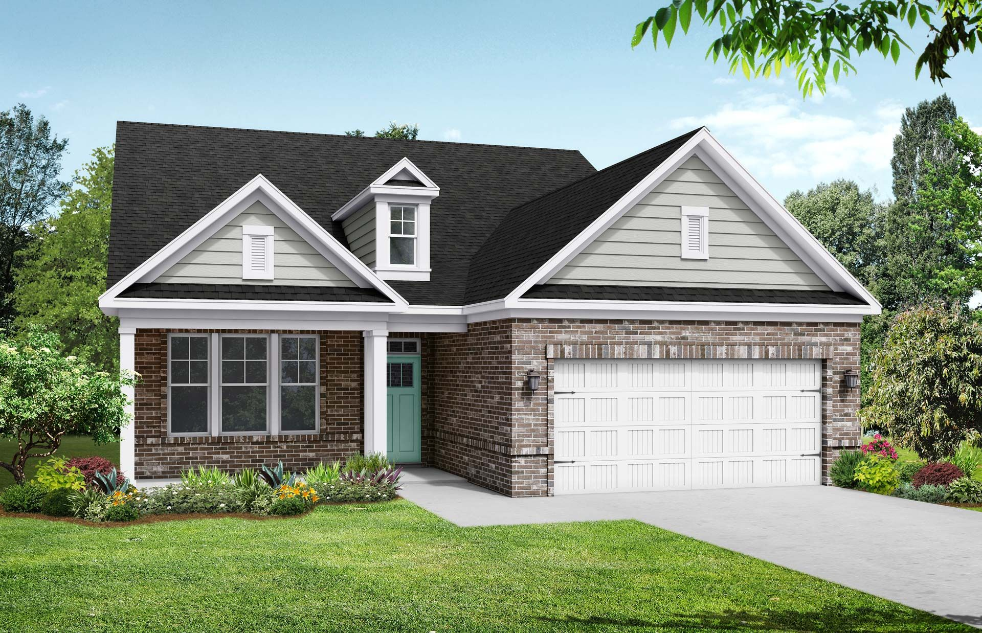 Exterior featured in The Birch C By Davidson Homes LLC in Raleigh-Durham-Chapel Hill, NC
