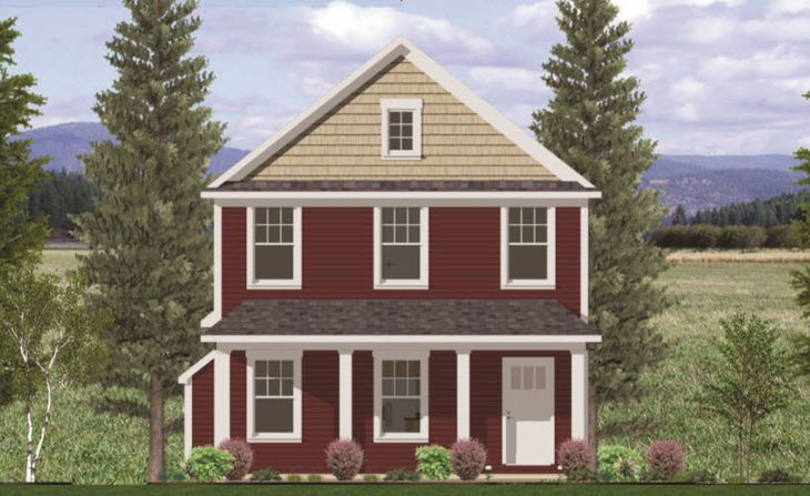 Colonial with Rear Load Garage