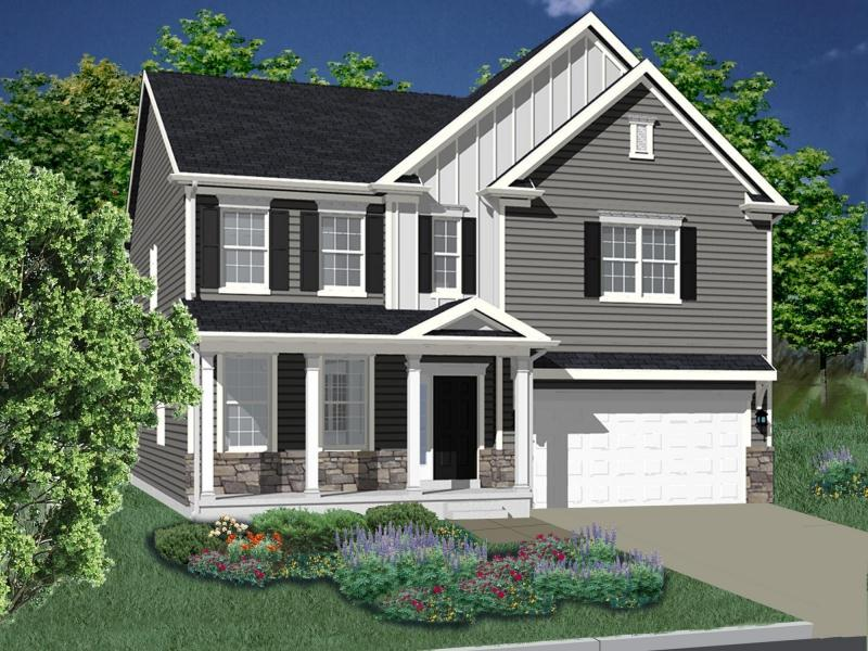 Exterior featured in The Augusta By DeLuca Homes in Philadelphia, PA