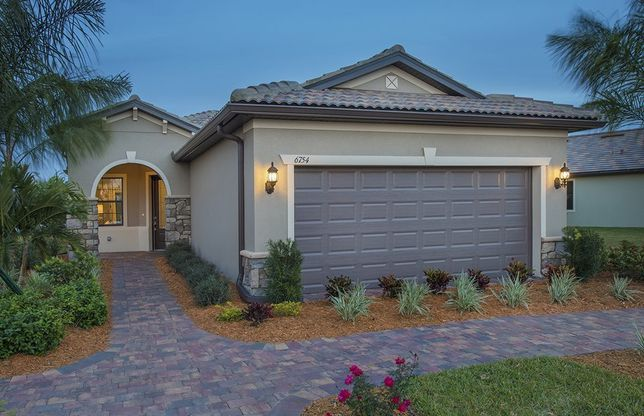 Steel Creek:Home Exterior FM2A with arched entryway