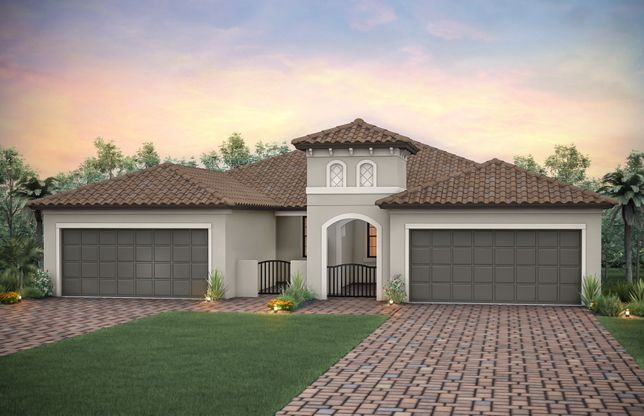 Cressida:Home Exterior FM1A with decorative brick paver driveway