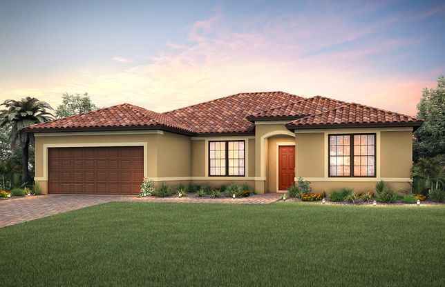 Tangerly Oak:Home Exterior FM1A with tile roof