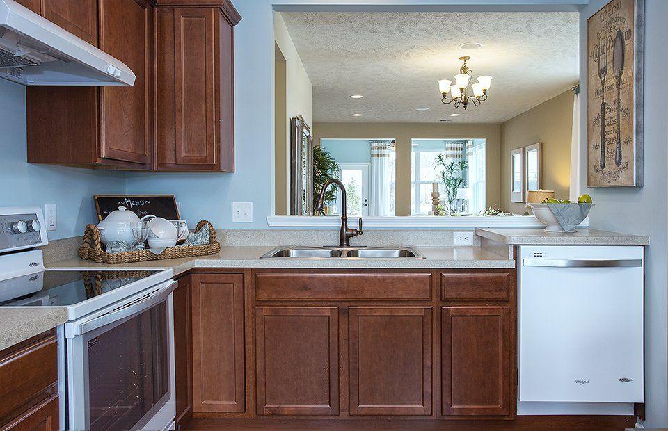 Kitchen-in-Trailblazer-at-Vandalia by Del Webb-in-Plainfield
