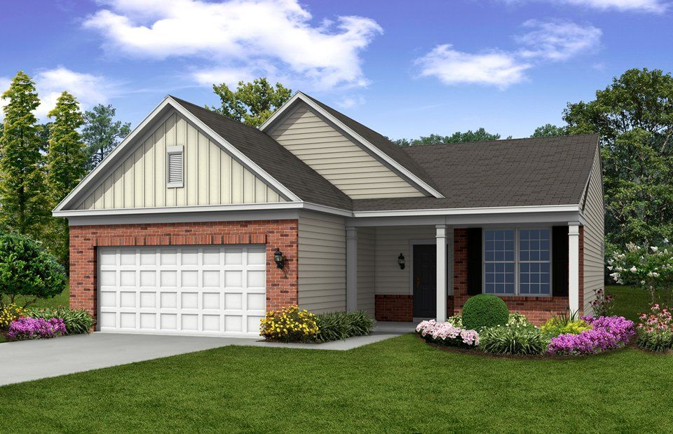 Exterior featured in the Castle Rock By Del Webb in Indianapolis, IN